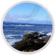 Wild Waves Round Beach Towel