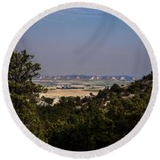 Wildcat Hills View Round Beach Towel