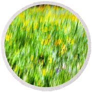 Wildflowers And Wind Round Beach Towel