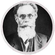 Wilhelm Roentgen, German Physicist Round Beach Towel