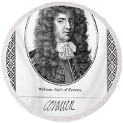 William Craven (1608-1697) Round Beach Towel