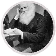 William Cullen Bryant, American Poet Round Beach Towel by Photo Researchers