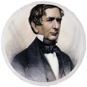 William Henry Seward Round Beach Towel