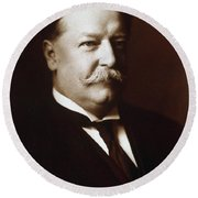 William Howard Taft - President Of The United States Round Beach Towel by International  Images