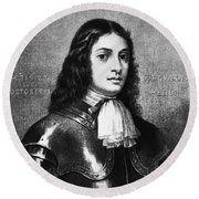 William Penn, Founder Of Pennsylvania Round Beach Towel by Photo Researchers