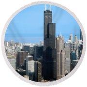 Willis Sears Tower 01 Chicago Round Beach Towel
