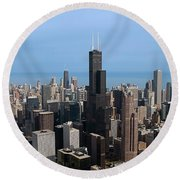 Willis Sears Tower 03 Chicago Round Beach Towel