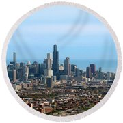 Willis Sears Tower 05 Chicago Round Beach Towel