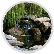 Willow Falls Round Beach Towel