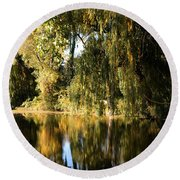 Willow Mirror Round Beach Towel