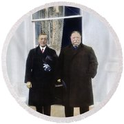 Wilson & Taft: White House Round Beach Towel