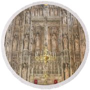 Winchester Cathedral High Altar Round Beach Towel