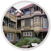 Winchester House - Door To Nowhere Round Beach Towel