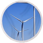 Wind Farm I Round Beach Towel