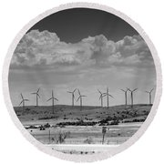Wind Farm II Round Beach Towel