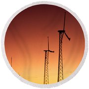 Wind Power For Agriculture Round Beach Towel
