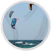 Wind Worshippers Round Beach Towel