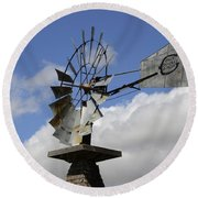 Windmill 2 Round Beach Towel