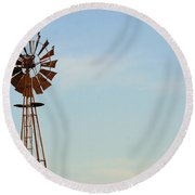 Windmill-3673 Round Beach Towel