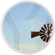Windmill-3768 Round Beach Towel