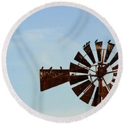 Windmill-3772 Round Beach Towel