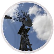 Windmill 4 Round Beach Towel