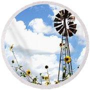 Windmill Dabble 2a Round Beach Towel