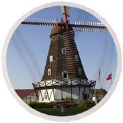 Windmill Danish Style 1 A Round Beach Towel