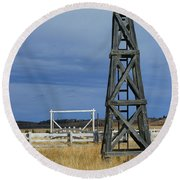 Windmill Tower Round Beach Towel