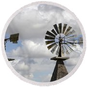 Windmills 5 Round Beach Towel