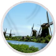 Windmills Round Beach Towel