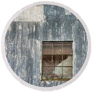 Window In Time 2 Round Beach Towel
