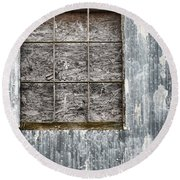 Window In Time 3 Round Beach Towel