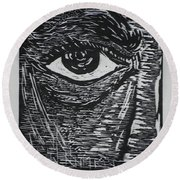 Window To The Soul Round Beach Towel