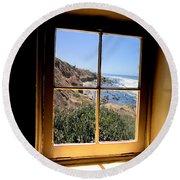 Window View 2 Round Beach Towel