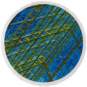 Windows And Reflections No.1058 Round Beach Towel