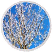 Winds Upon The Branchs II Round Beach Towel