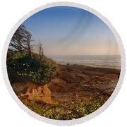 Windswept Coast Round Beach Towel