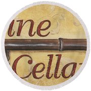 Wine Cellar Round Beach Towel