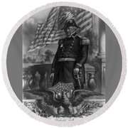 Winfield Scott, American Army General Round Beach Towel