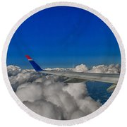 Wing And Clouds Round Beach Towel