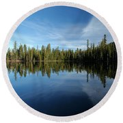 Wings In The Lake Round Beach Towel