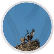 Wings Up Round Beach Towel