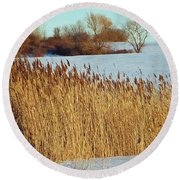 Winter Breeze Round Beach Towel by Aimee L Maher Photography and Art Visit ALMGallerydotcom