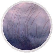 Winter Long Grass Round Beach Towel