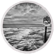 Winter... Or Three Months Of Silence Round Beach Towel