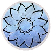 Winter's Flower Round Beach Towel