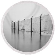 Wire Mesh Fence Round Beach Towel by Joana Kruse