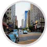 Wisconsin Avenue 2 Round Beach Towel