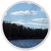 Wisconsin's Peshtigo River Round Beach Towel